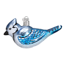 Bright Blue Jay 16121 Old World Christmas Ornament