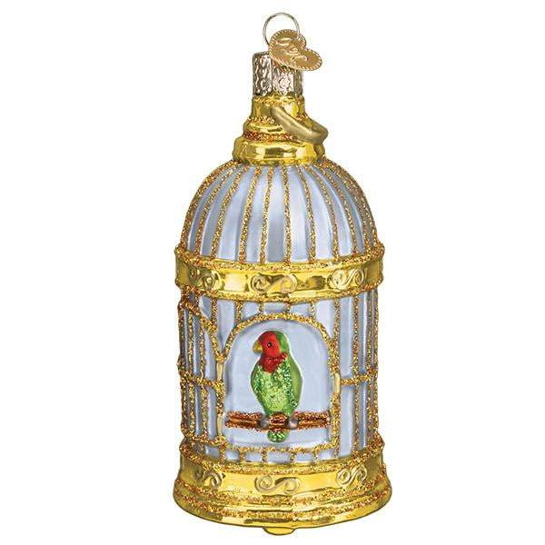 Vintage Bird Cage 16127  Old World Christmas Ornament