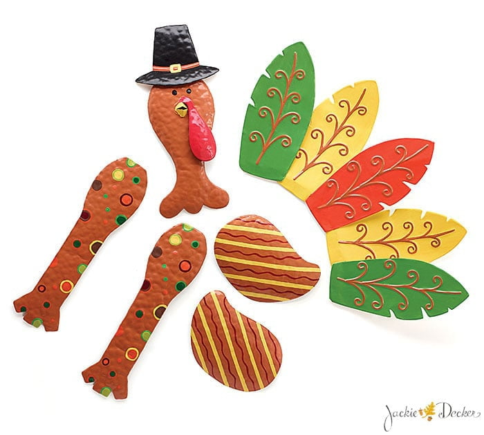 Tin Turkey Wreath Kit 6 Pieces 1620254
