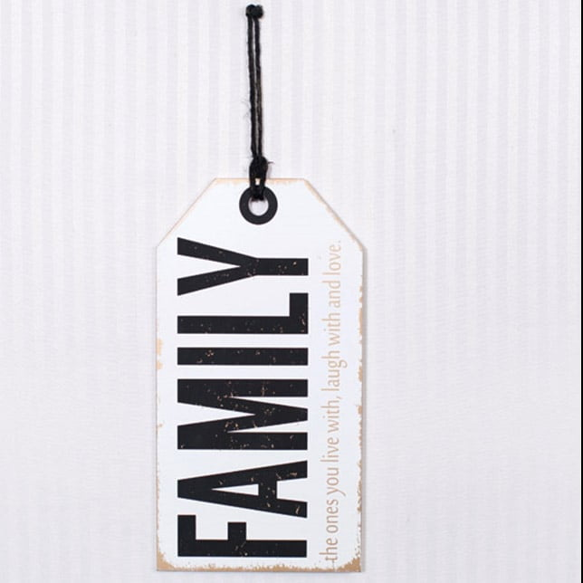 "16"" Family Love Wood Tag Sign"