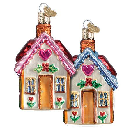 Sweetheart Cottage 20066 Old World Christmas Ornament