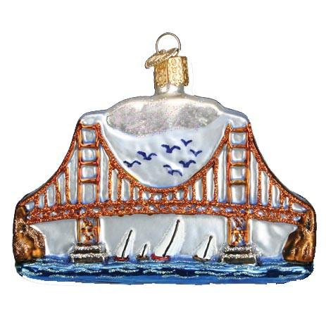 Golden Gate Bridge 20068 Old World Christmas Ornament
