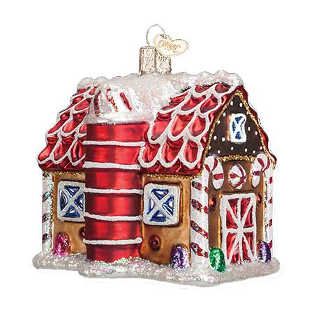 Gingerbread Barn 20070 Old World Christmas Ornament