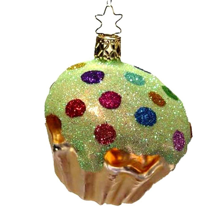 Light Green Gumdrop Cupcake Retired Christmas Ornament Inge-Glas