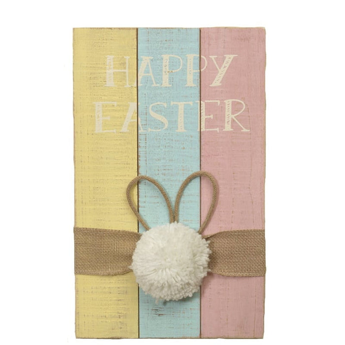 "15"" Wood Happy Easter Wall Hanging 2389080"