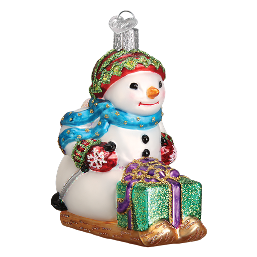 Snowman on Skis 24163 Old World Christmas Ornament