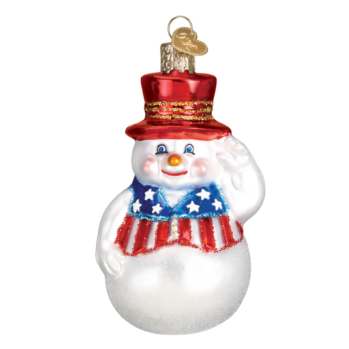 Patriotic Snowman 24180 Old World Christmas Ornament