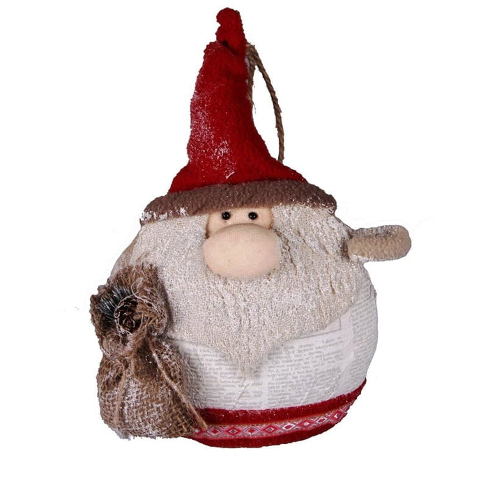 "9"" Holiday Home Fat Santa Christmas Ornament"