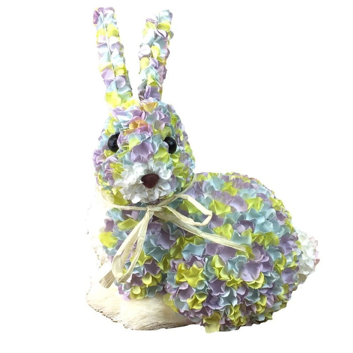 "7.5"" Paper Floral Bunny"
