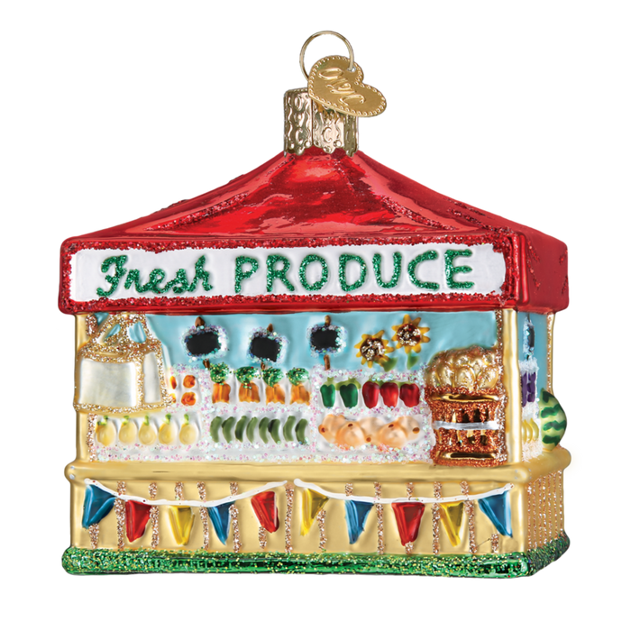 Farmer's Market Stand 28122 Old World Christmas Ornament