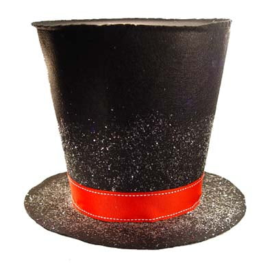 RAZ 9 Inch Holly Top Hat Christmas Decoration