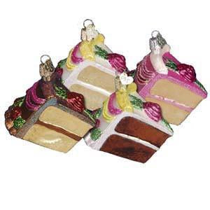 Piece of Cake 32038 Old World Christmas Ornament Assorted