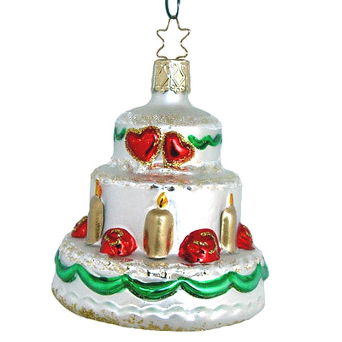 Wedding Cake Christmas Ornament Inge-Glas of Germany 3-208-05