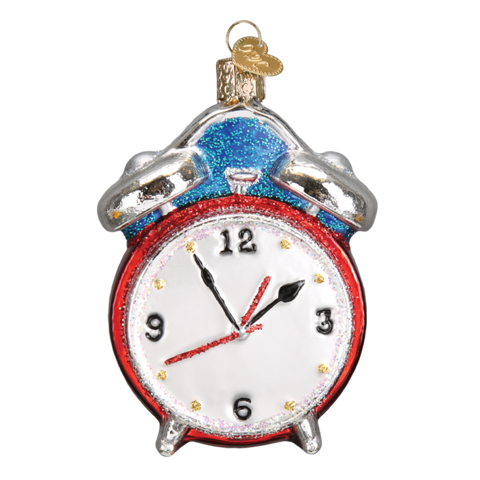 Alarm Clock 32252 Old World Christmas Ornament