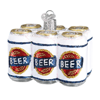 Six Pack of Beer Old World Christmas Ornament 32333