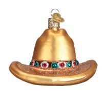 Cowboy Hat 32354 Old World Christmas Ornament