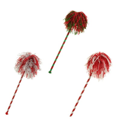 "RAZ 17"" Holiday Rivalry Cheer Stick Christmas DecorationSet of 3"