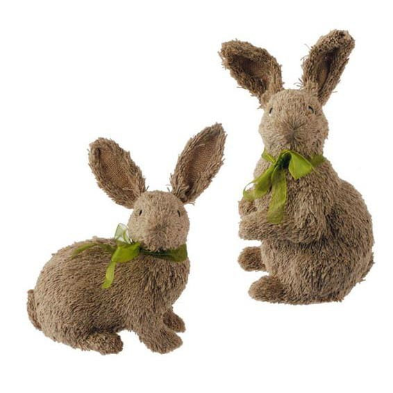 "12"" RAZ Rustic Rabbit Set of 2"
