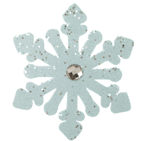 "RAZ 8"" Glittered Light Blue Snowflake Christmas Ornament"