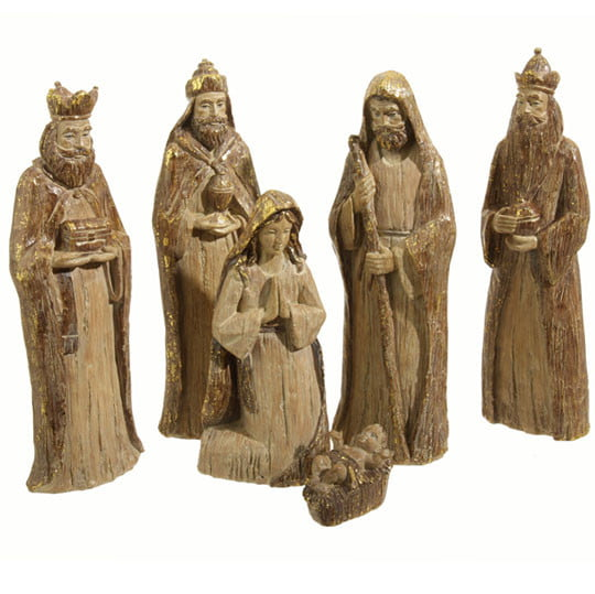 RAZ Resin Nativity Set of 6