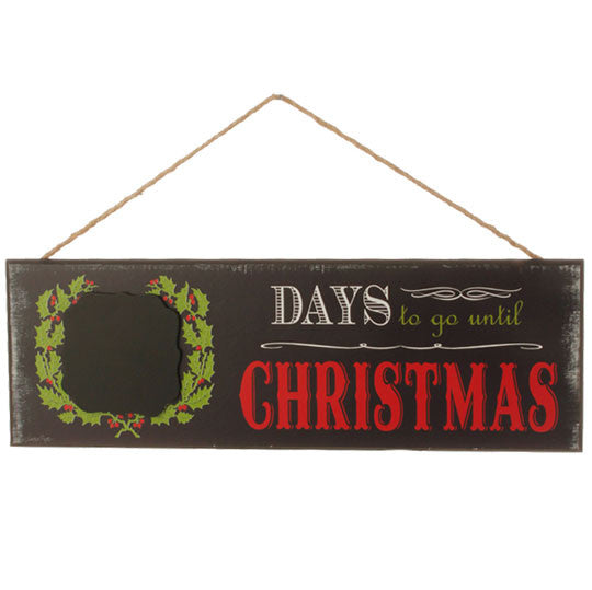 "RAZ 16"" Days Until Christmas Chalkboard Wall Plaque"