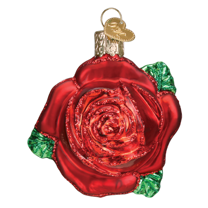 Red Rose 36251 Old World Christmas Ornament