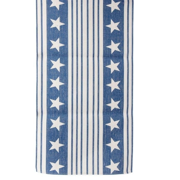 RAZ Blue Stars & Stripes Patriotic Table Runner 3716067