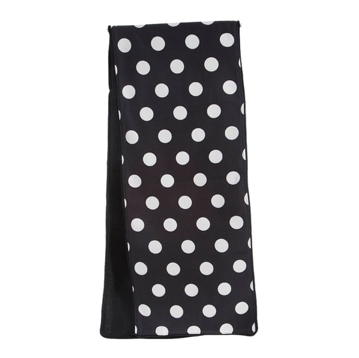 RAZ Black White Polka Dot Table Runner