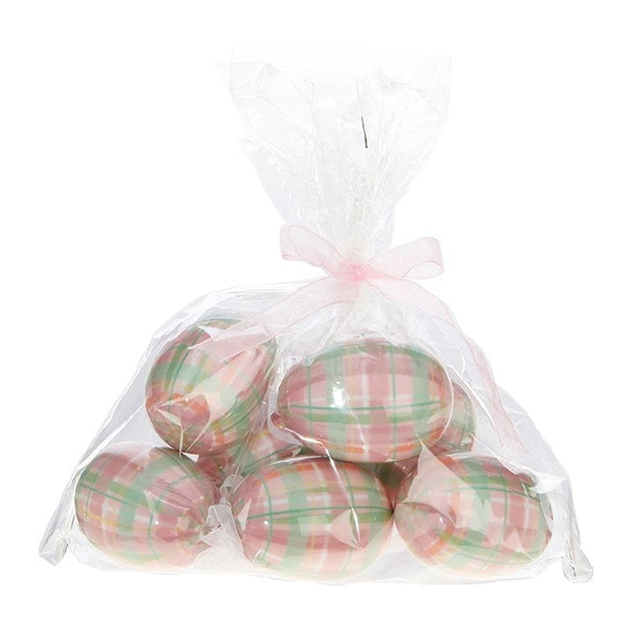 RAZ Bag Pink Plaid Easter Eggs
