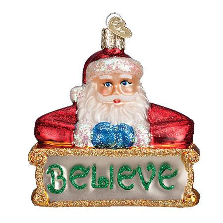 Believe Santa 40262 Old World Christmas Ornament
