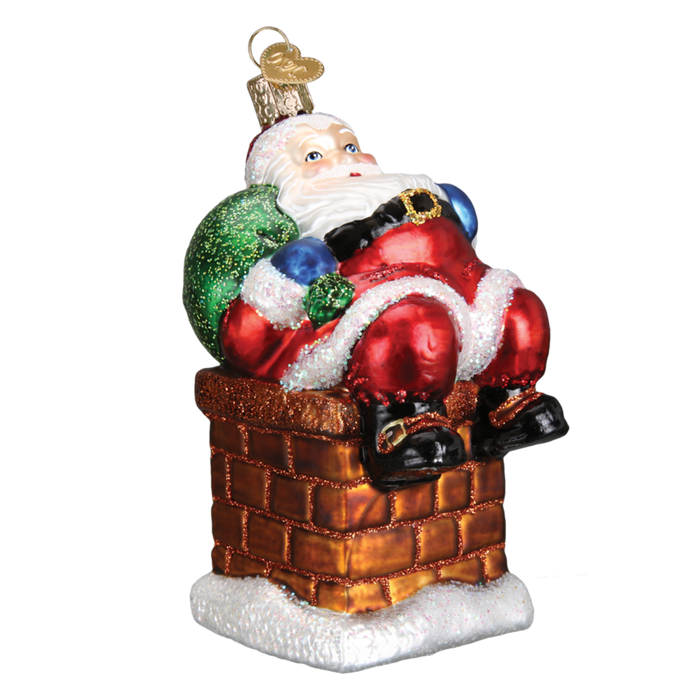 Chimney Stop Santa 40297 Old World Christmas Ornament