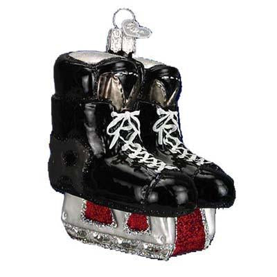 Hockey Skates 44046 Old World Christmas Ornament