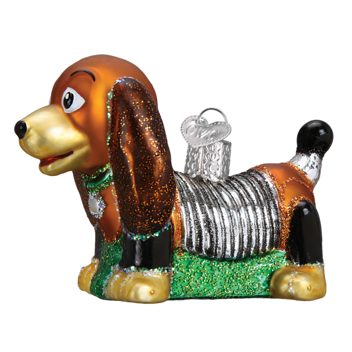 Toy Coil Dog 44098 Old World Christmas Ornament