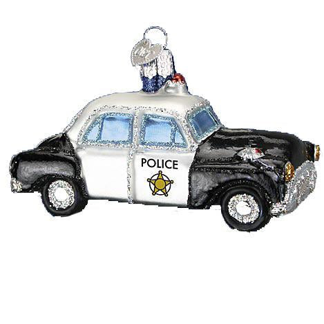Police Car 46044 Old World Christmas Ornament