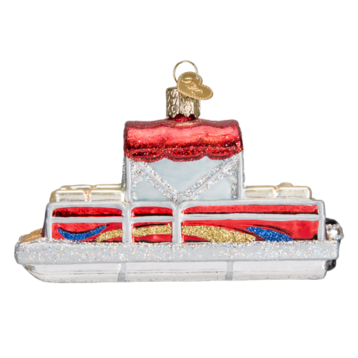 Pontoon Boat 46059 Old World Christmas Ornament