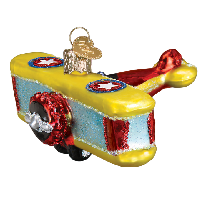 Biplane 46072 Ol World Christmas Ornament