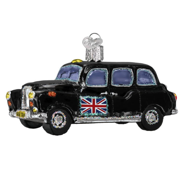 British Taxi 46079 Old World Christmas Ornament
