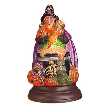 Witch with Cauldron Halloween Light Old World Christmas 529775
