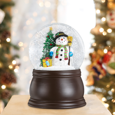 Gleeful Snowman Old World Christmas Snow Globe 54007