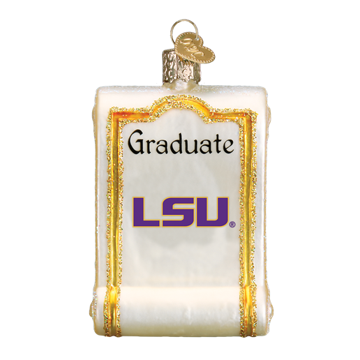 Louisiana State Diploma 60312 Old World Christmas Ornament