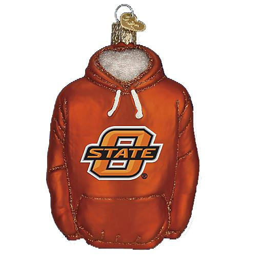 Oklahoma State Hoodie 60503 Old World Christmas Ornament