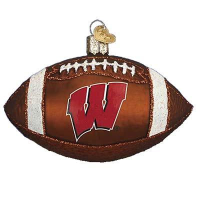 Wisconsin Football 60800 Old World Christmas Ornament