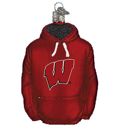 Wisconsin Hoodie 60803 Old World Christmas Ornament