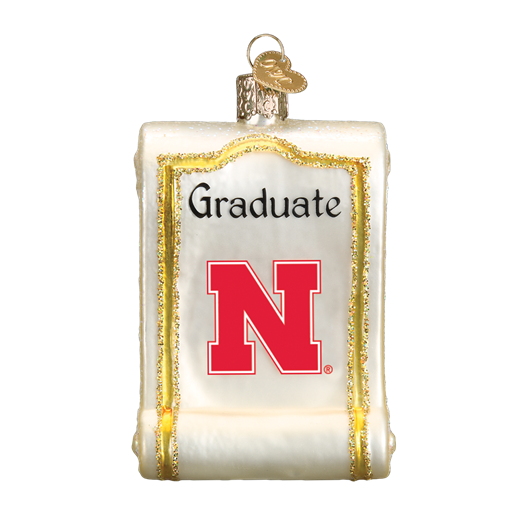 Nebraska Diploma 60912 Old World Christmas Ornament