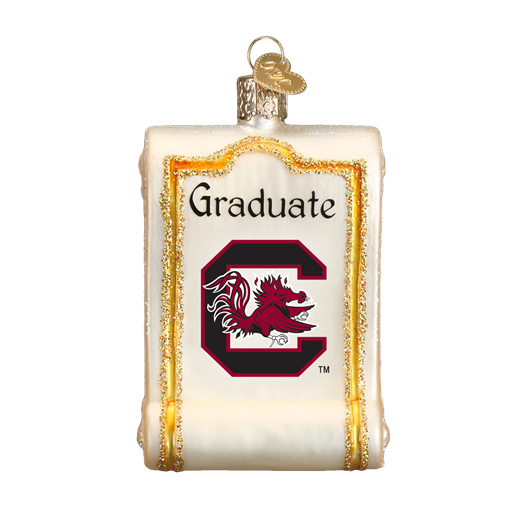 South Carolina Diploma 63012 Old World Christmas Ornament