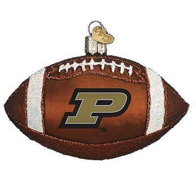Purdue University Football 63100 Old World Christmas Ornament