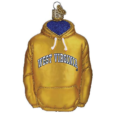 West Virginia Hoodie 63603 Old World Christmas Ornament