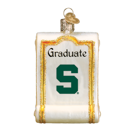 Michigan State Diploma 63812 Old World Christmas Ornament