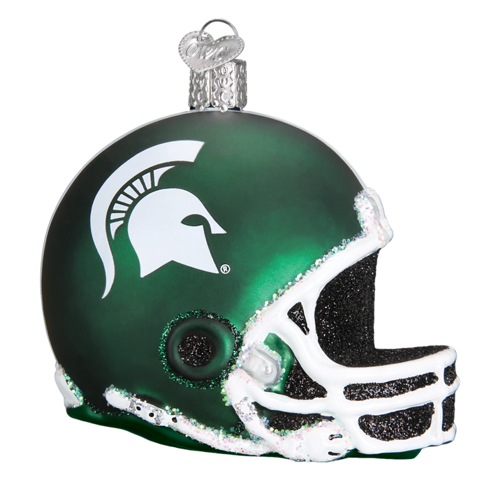 Michigan State Helmet 63817 Old World Christmas Ornament