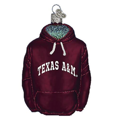 Texas A & M Hoodie 64203 Old World Christmas Ornament